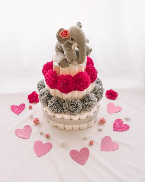 Plenicna torta Rilka dekorirana baby shower