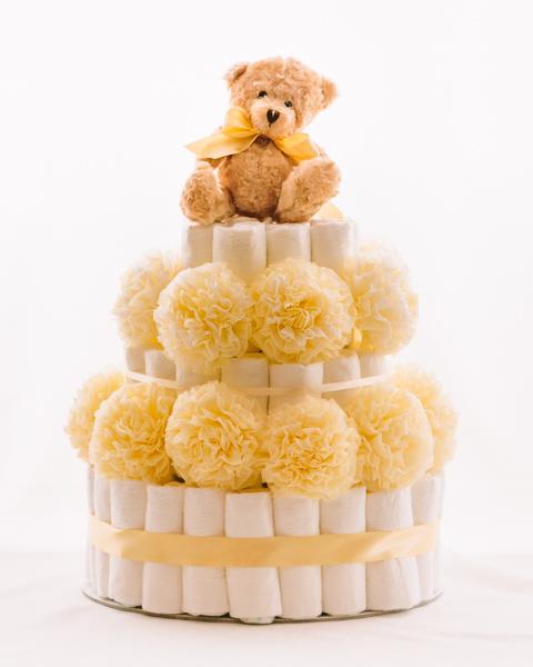 Torta iz plenic Zlatko baby shower