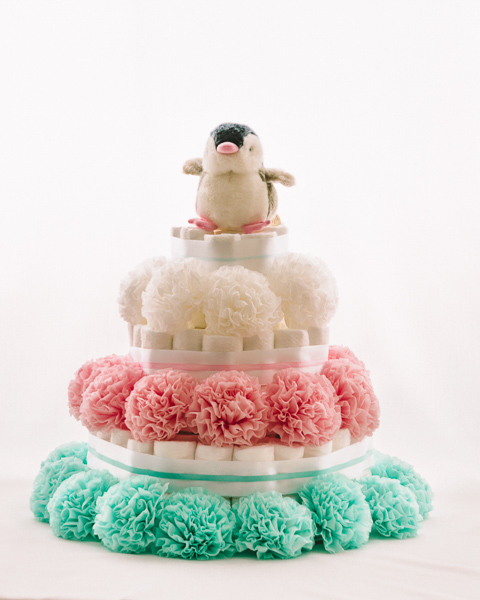 Torta iz plenic Pingi baby shower