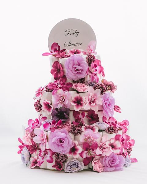 Torta iz plenic Flora baby shower